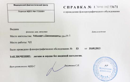 Медицинская справка по месту требования Справка из онкодиспансера Маяковская